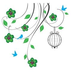Cage swirls green vector