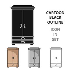 closet icon in cartoon style isolated on white vector image