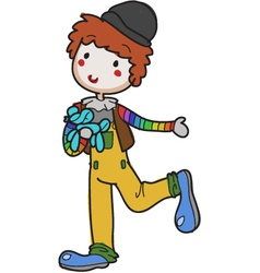 clown hand drawn vector image