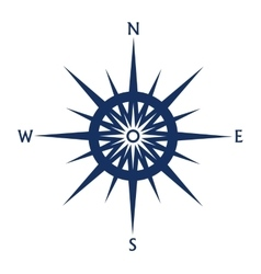 Compass rose icon isolated on white vector image vector image