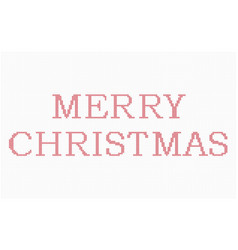 Cross stitch merry christmas vector