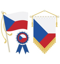 czech republic flags vector image