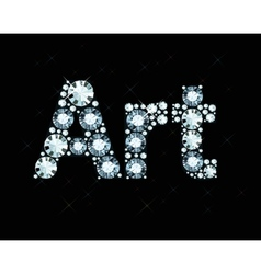 Diamond Word Art vector image