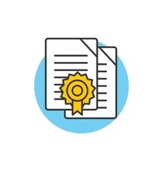 Diploma icon logo vector