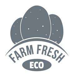 eco farm fresh logo simple style vector image