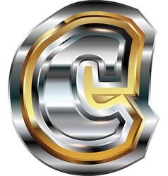 Fancy font letter c vector
