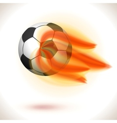 Fire Flaming Soccer Ball vector image