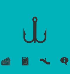 fishhook icon icon flat vector image vector image