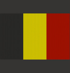 flag of belgium on knitted woolen texture vector image vector image