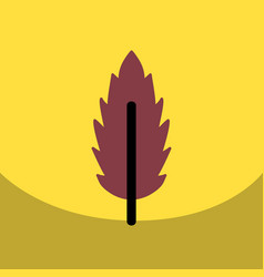 Flat icon design collection leaf of tree vector
