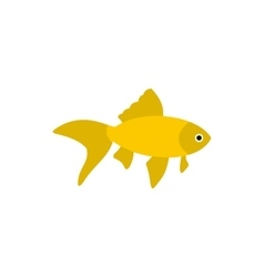 Golden fish icon in flat style vector image vector image