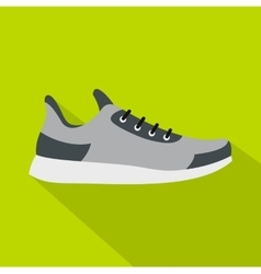 Gray sneaker icon flat style vector