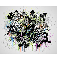 Grunge graffiti design vector
