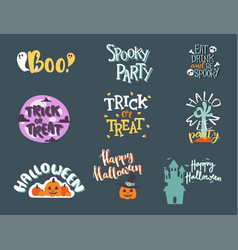 halloween day celebration invitation logo text vector image vector image