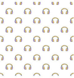 headphones pattern seamless vector image vector image