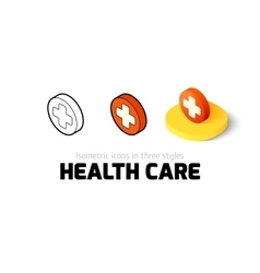 Health care icon in different style vector image vector image
