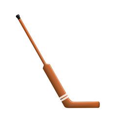 Hockey stick for goalie vector