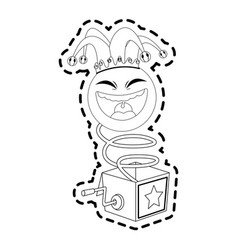 jack in the box toy icon image vector image vector image