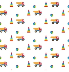 Kids toys pattern vector