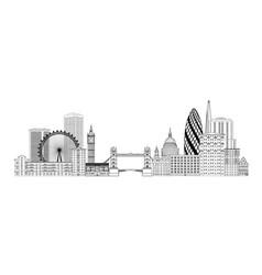 London skyline london cityscape with famous vector