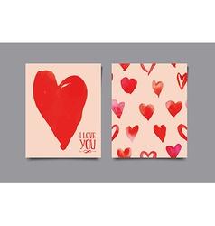 Postcard heart Seamless pattern vector image vector image