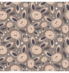 Rabbits Abstract seamless background vector image vector image