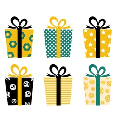 Retro gifts vector