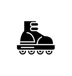 roller skating icon black vector image