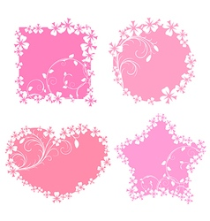 Romantic frames vector image vector image