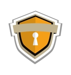 Safety lock shield icon vector