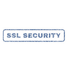 Ssl security textile stamp vector