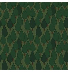 Summer tree seamless pattern vector image vector image