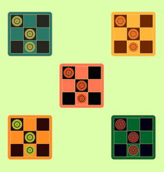 Tic tac toe x o game collection vector