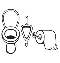 Toilet paper and toilet vector image