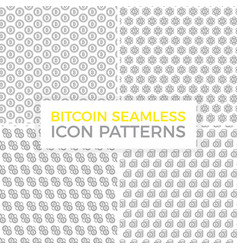 unique digital money and bitcoin seamless pattern vector image vector image