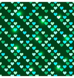 Valentines Day seamless with shiny sequins vector image vector image