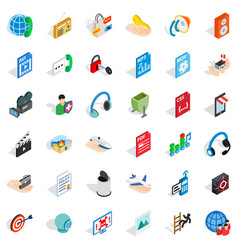 Web site icons set isometric style vector