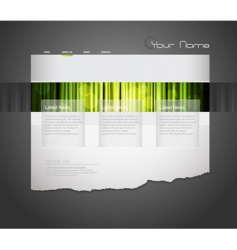 website template with orange curtain vector image vector image