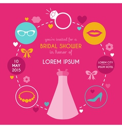 Wedding bridal shower card vector