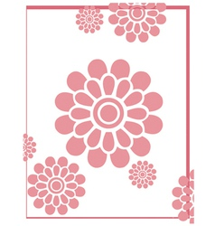 Pinkflowerbackground vector