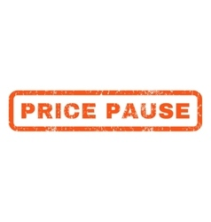 Price pause rubber stamp vector