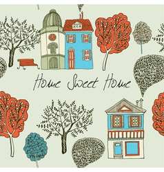 Home sweet home card seamless background vector