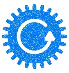 Rotate cog grainy texture icon vector