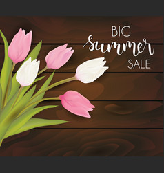 Summer sale flowers background vector