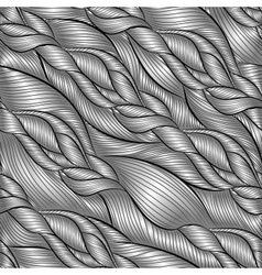 Hand-drawn pattern with waves vector