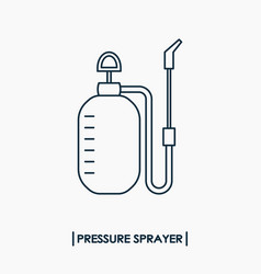Pressure sprayer outline icon garden sprayer vector