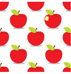 Apple seamless pattern on a white background for vector