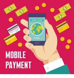 Mobile payment creative - business co vector