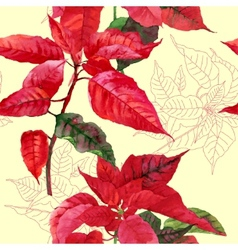 Seamless pattern with poinsettia plant-04 vector