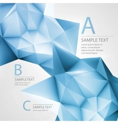 Abstract background with triangle vector